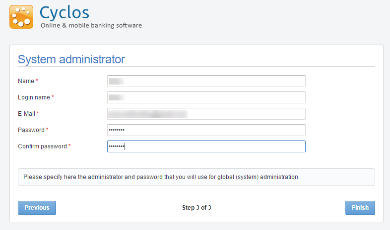 cyclos4 system administrator settings
