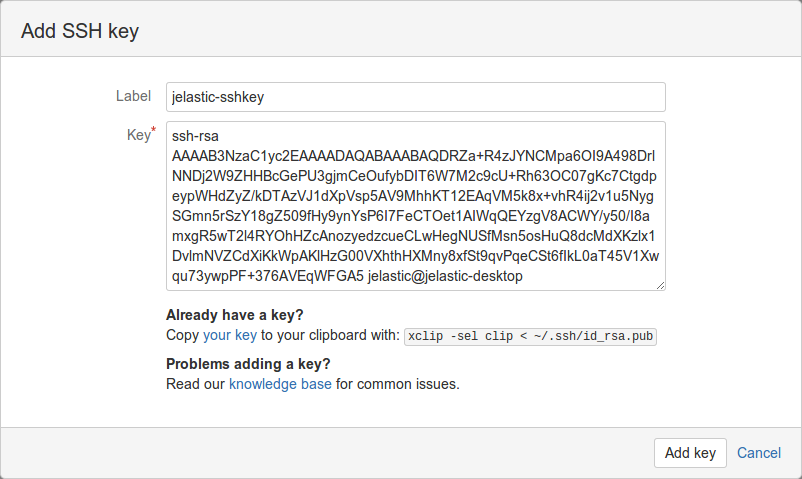 add key bitbucket