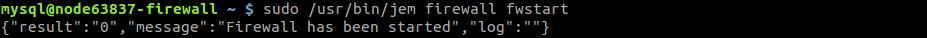 start firewall